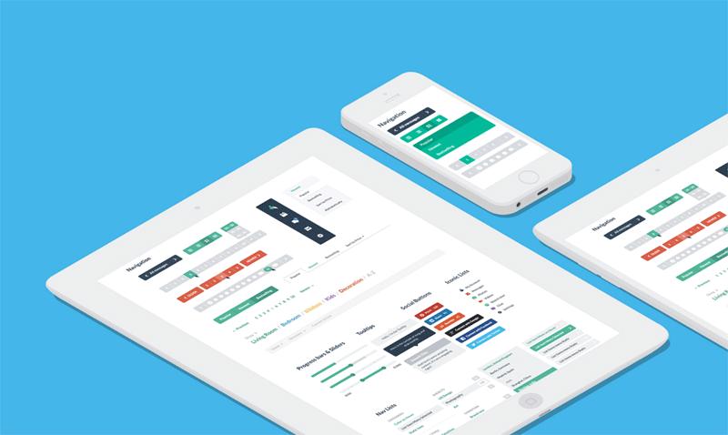 Axure Flat UI Kit